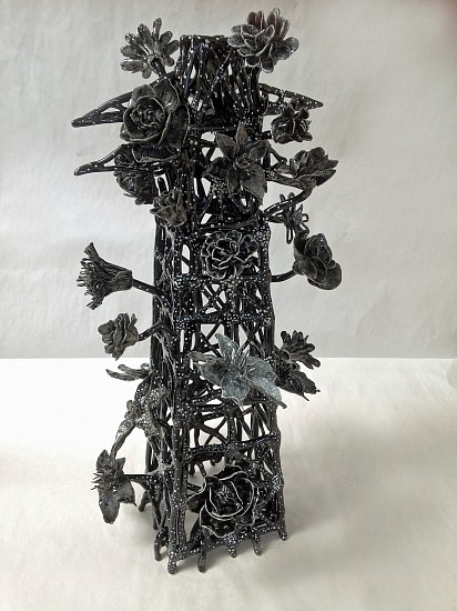 Susan Graham, Flower Tower 2 2015, glazed porcelain