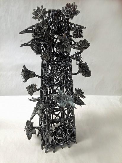 Susan Graham, Flower Tower 2 2015, glazed porcelain