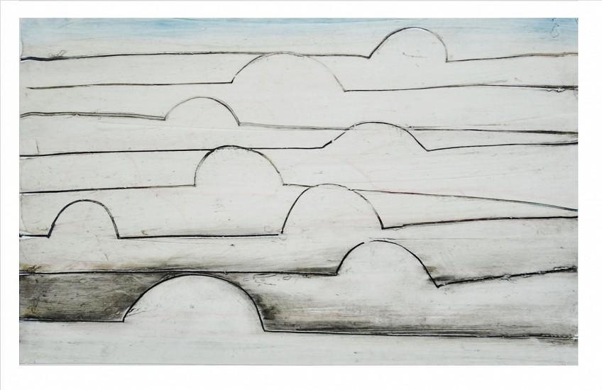 Don Maynard (LA), Cloud Cover 2016, encaustic