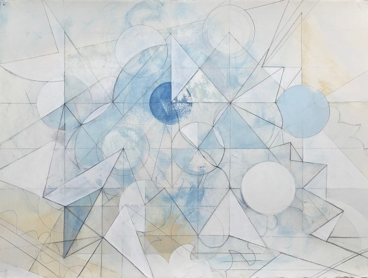 Celia Gerard, Time Change 2016, mixed media on handmade watercolor paper
