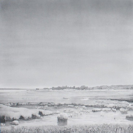 Clay Wagstaff, Coast no. 41 2016, graphite on arches cover paper