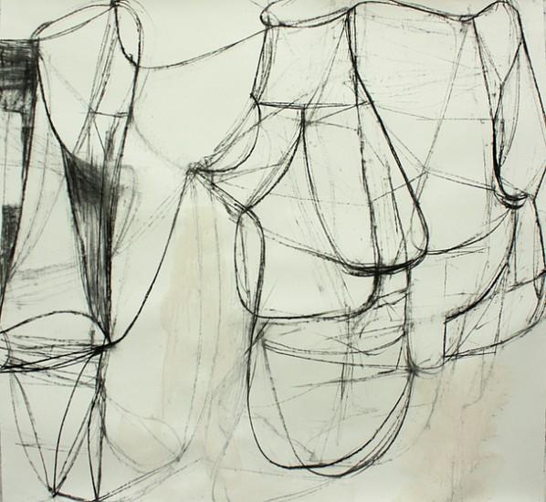 Deborah Dancy (LA), Object Lesson 2 2015, acrylic, charcoal on paper