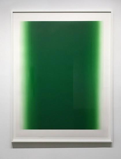 Betty Merken, Illumination, Green 07-16-08 2016, monotype on rives bfk paper