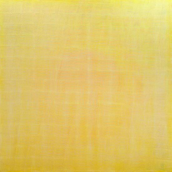 Karin Schaefer, Ocean of Yellow Waves 2016, oil on panel