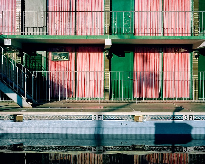 Tyler Haughey, Grecian Gardens Motel 2016, archival pigment print