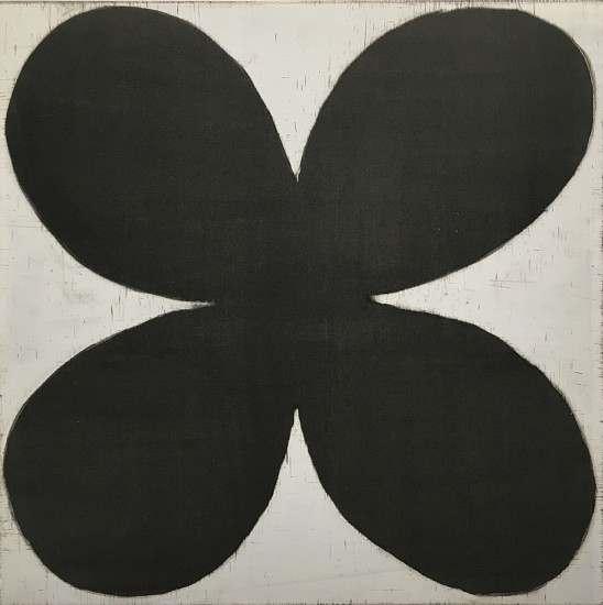Isabel Bigelow (LA), black flower with graphite 2016, monoprint