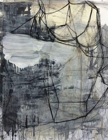 Deborah Dancy, Winter #21 2014, acrylic, charcoal on paper