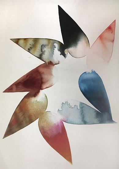Lourdes Sanchez (Ink on silk), Implied Velocity 13 2016, ink on silk