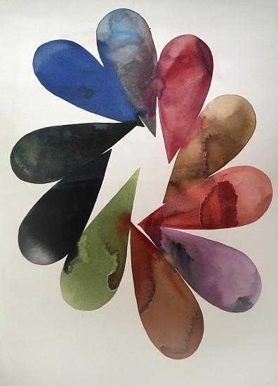 Lourdes Sanchez (Ink on silk), Implied Velocity 15 2016, ink on silk