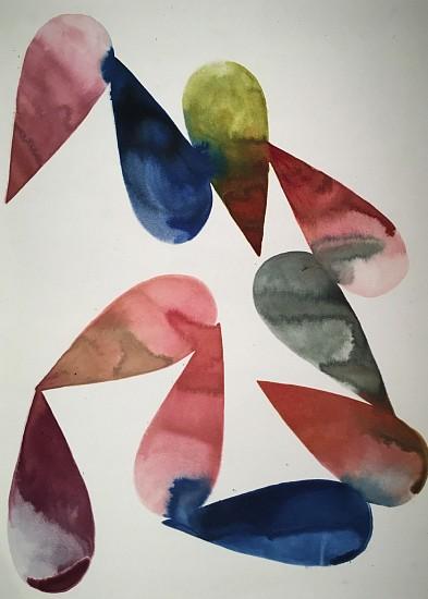 Lourdes Sanchez (Ink on silk), Implied Velocity 21 2016, ink on silk