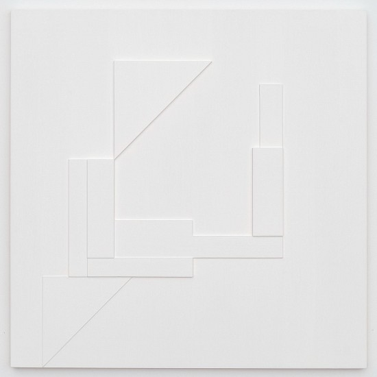 Agnes Barley, Untitled Collage (Relief) 2016, acrylic on cut panel