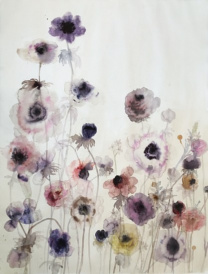Lourdes Sanchez (Watercolor), Anemones 12 2016, water color on paper