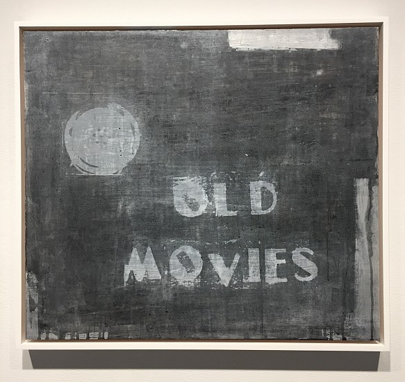 Eugene Brodsky, Old Movies (Black and White) 2016, mixed media on panel