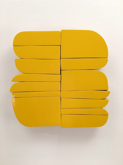 Andrew Zimmerman (LA), Yellow 2017, automotive finish on wood