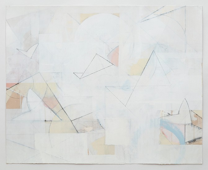 Celia Gerard, Planes and hearts 2016-2017, mixed media on paper