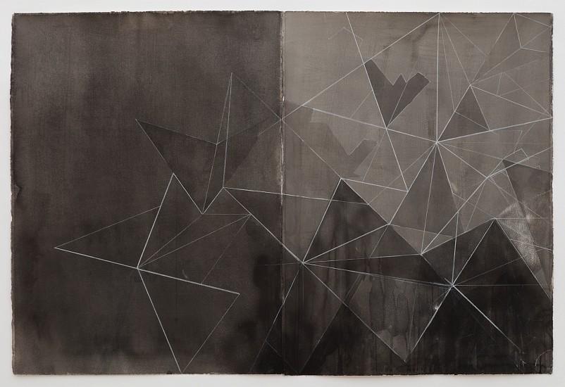 Celia Gerard, Descent 2017, mixed media on paper