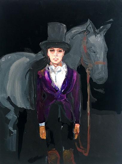 Suzy Spence (LA), Purple Rider 2017, acrylic on panel