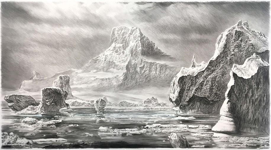 Rick Shaefer, Iceberg I 2017, charcoal on vellum