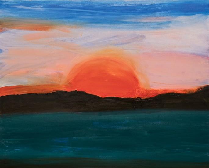 Kathryn Lynch, apocalyptic sun 2017, oil on canvas