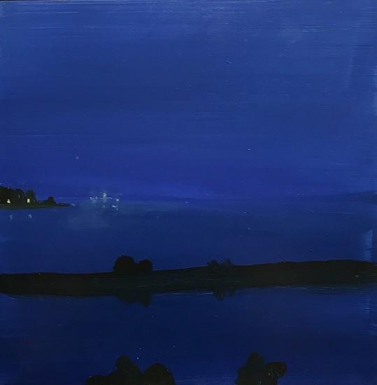 Kathryn Lynch, Bay in Blue 2017, oil on panel