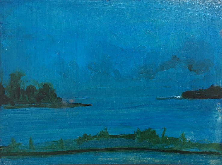 Kathryn Lynch, Blue Bay 2017, oil on paper