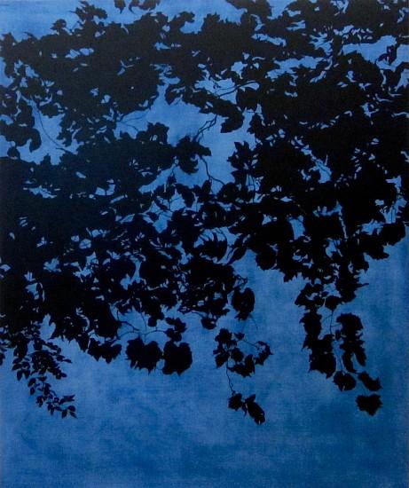 Isabel Bigelow, overhead (vines & leaves) 2017, oil on panel