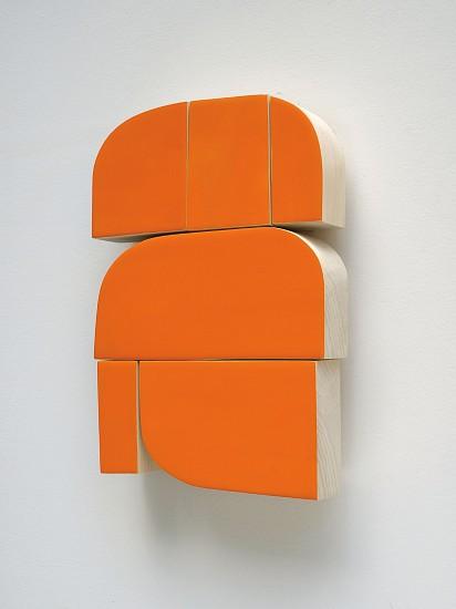 Andrew Zimmerman, Orange Zest 2017, automotive paint and epoxy resin on wood