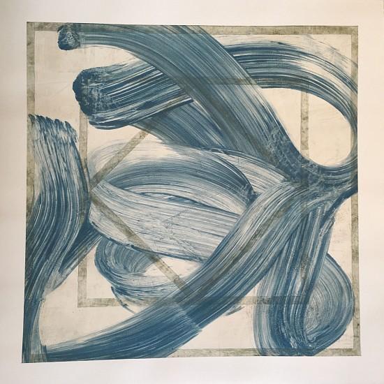 Joseph Haske, Blue Eights 2017, acrylic on paper