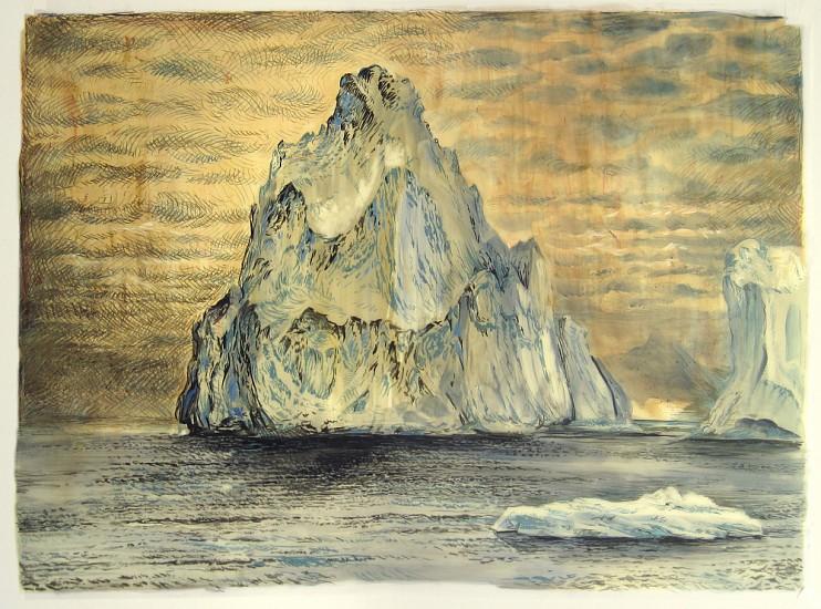 Rick Shaefer, Iceberg II 2016, charcoal, pastel, and oil on vellum