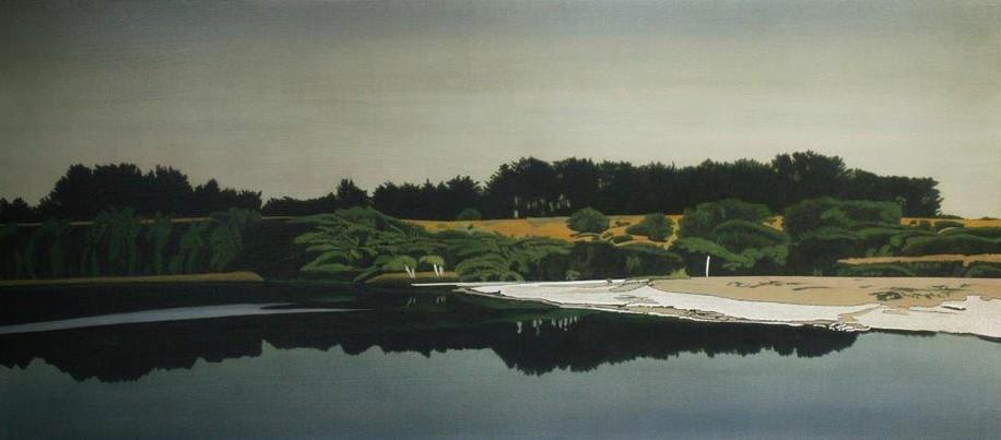 Clay Wagstaff, Coast No. 41 2015, oil on panel