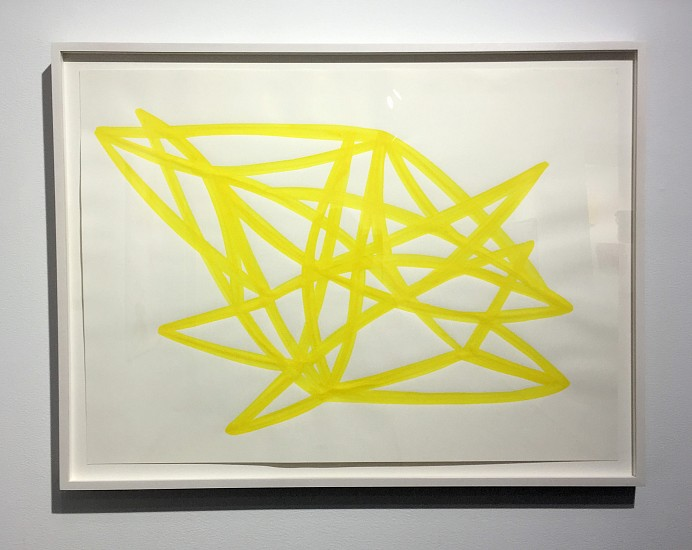 Agnes Barley, Untitled (Monochrome Yellow) 2 2017, acrylic on paper