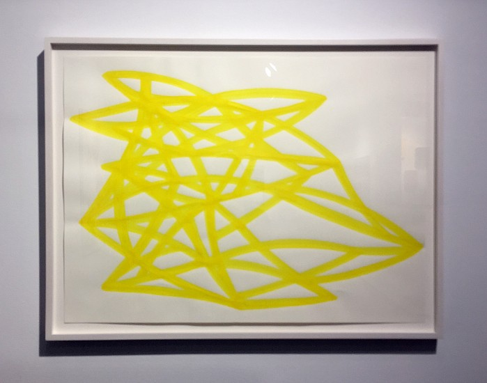 Agnes Barley, Untitled (Monochrome Yellow) 3 2017, acrylic on paper