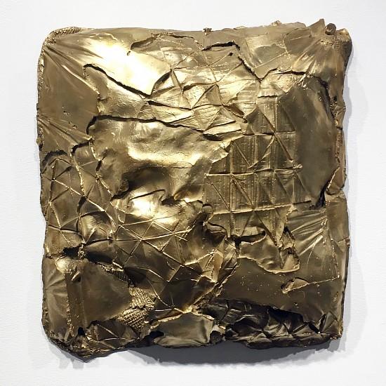 Celia Gerard, Convex 2017, bronze, copper wire, unique patina