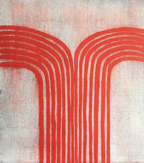 Isabel Bigelow (LA), red falls 2016, oil on paper
