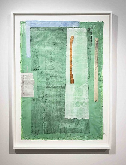 Eugene Brodsky, Green Copper Outtake I 2017, ink on silk