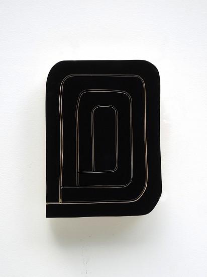 Andrew Zimmerman, Mars Black 2017, acrylic paint and automotive finish on wood