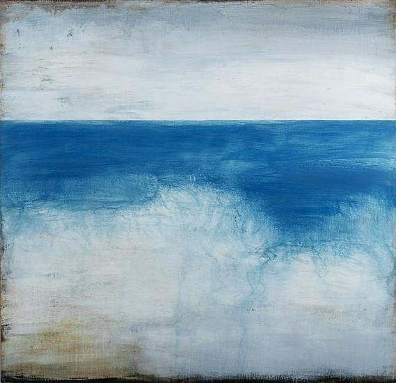 Shawn Dulaney, Blue Chill 2017, handmade paint on Venetian plaster on linen over panel