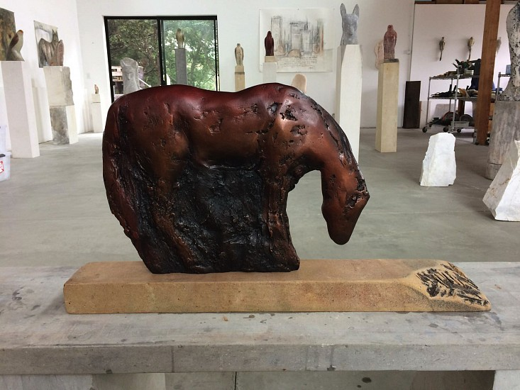 Jane Rosen, Rufous Cash 2017, cast bronze with patina