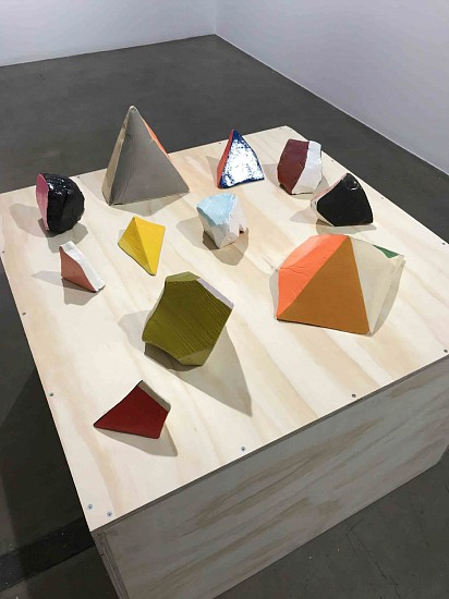 Jen Wink Hays, Ceramic and Plaster Sketches 2017, Mixed media