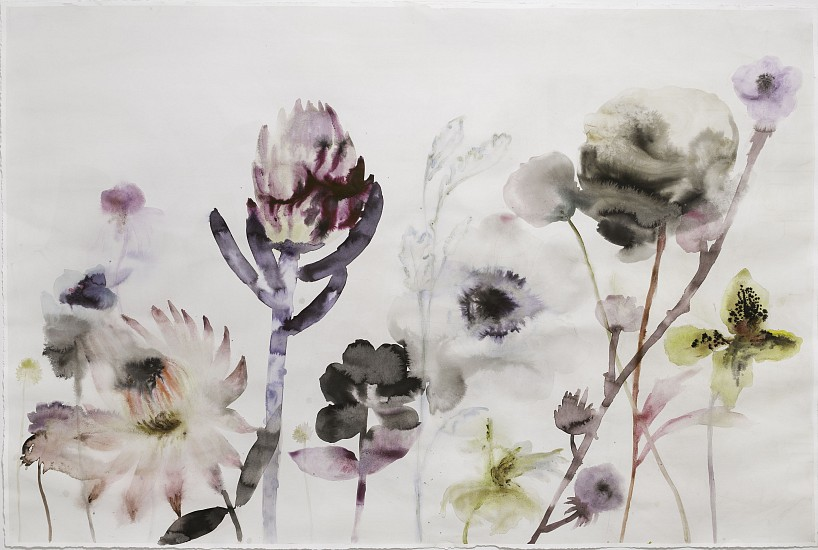 Lourdes Sanchez (Watercolor), Untitled 2017, watercolor and mixed media on paper